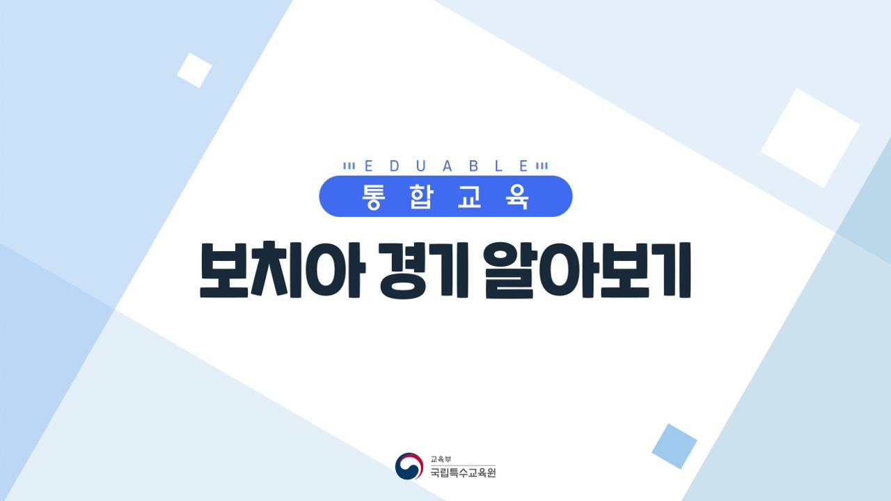 4.보치아 경기 알아보기 사진